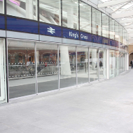 Telescopic doors provide open access to magnificent King's Cross concourse