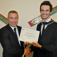 Honorary Graduate receives SE Controls award at winter ceremony