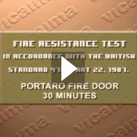 Vicaima Fire Doors - Fire Resistant Test