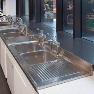 Stainless steel sinks specified for The University of Liverpool