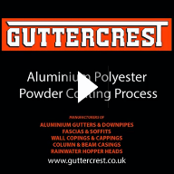Guttercrest Powder Coating Application Video
