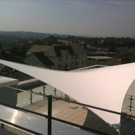 Four Post Malvern Hypar Tensile Fabric Canopy