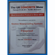 Newton FlexProof Wins The Most Innovative Product Of The Year Award At The 2013 Concrete Show
