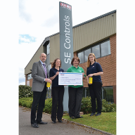 Charity fundraising by SE Controls raises over £6,500 for St Giles Hospice