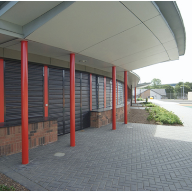 Integr8 180C security shutter system at the new St Xaviers Primary School