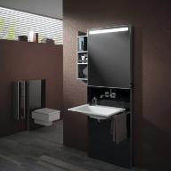 Timeless design combines with contemporary functionality with Emco's Monolith accessories