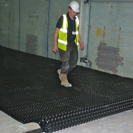 Cavity drain membrane system used on residential refurbishment