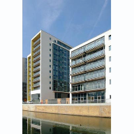 Metal Technology's System 17 High Rise Curtain Walling used at Bow Common Lane