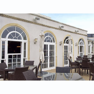 Timber windows and doors from Mumford & Wood used for Christchurch Harbour Hotel Restaurant and Spa