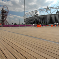 John Brash CitiDeck non slip decking provides superior performance for Olympic Park walkways