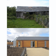 Contemporary Barn gets Natural Look with Glendyne from Cembrit