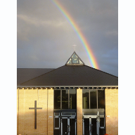 Moorland fibre cement slates from Cembrit used for Wollaston Baptist Church