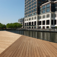 John Brash decking design for Herons Quay