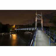 Award-winning LED handrail installed at Teddington Lock footbridge