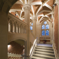 Award-winning LED handrail specified at historic Divinity School, St John's College, Cambridge