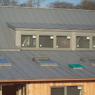 Bespoke Fakro roof windows and flashings for creamery and farm shop