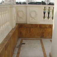 Leaky palace roof terraces repaired with TT Vapour Membrane from Triton
