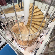 Bespoke spiral staircase for flagship Republic store, Leeds