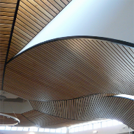 CPD highlights the beauty and benefits of Hunter Douglas wood ceilings