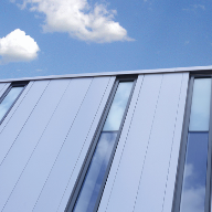 Vertical Kalzip FC rainscreen panels ideal for new schools
