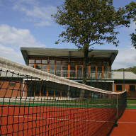 Outdoor glass balustrade installed at Moorland Tennis Club