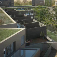 Barking Riverside homes planted with green roof benefits