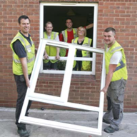 Eurocell's Eurologik PVC-U profile system used for Nottingham City Homes