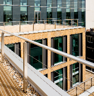 John Brash treated softwood decking at Wigmore Street development, London