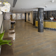 Ceramic tiles and slabs for Radisson Hotel, London