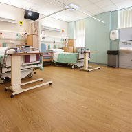 Wood effect Sheet vinyl floorcoverings Prince Philip Hospital, Llanelli