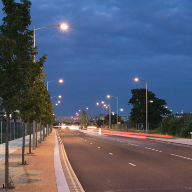 Monaro luminaires from DW Windsor used to upgrade the lighting in Victoria Way, Ashford