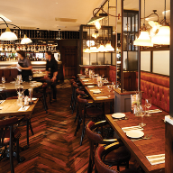 The Solid Wood Flooring Co provided parquet block flooring for Le Bistrot Pierre