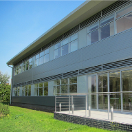 Comar 6EFT Curtain Wall system at Crossways Business Park in Kent