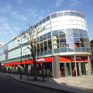 Comar 6 facade for TK Maxx flagship store, Woolwich, London