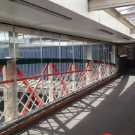 Frameless sliding wall system from DORMA at Chester railway station