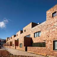Shingle cladding solution for social housing development