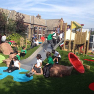 Nomow Rainbow Range used at Greenleaf Play Area