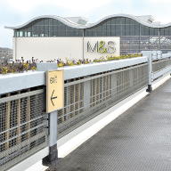 Perimeter safety barriers keeps M&S customers safe