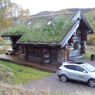 Bespoke Fakro flashings for luxury Highland log cabins