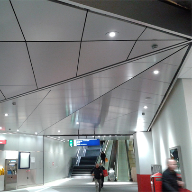 Hunter Douglas produces unique acoustic ceiling for Amsterdam's Metro
