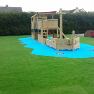 Nomow Artifical Grass Rainbow range used at Colman Infant School