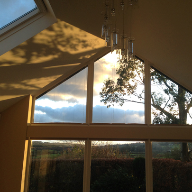 Electric Duette Blinds selected for Gabled Extension Project