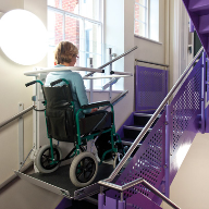 Stannah's new Stairiser SR slimline inclined platform lift
