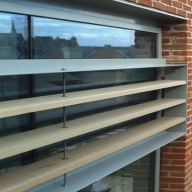 Three different types of brise soleil for new retail centre