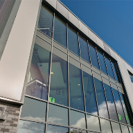 Aluminium window systems used at Marine Academy Plymouth