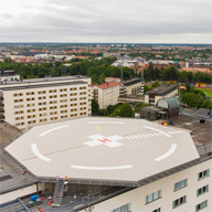 Flowcrete provides coating for hospital helipad
