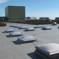 Single ply roofing system used on hospital roof top
