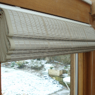 Pinoleum blinds for picturesque cottage