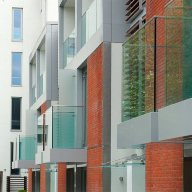 Rainscreen cladding for residential housing in London