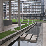 Green roof system for Indescon Court, Isle of Dogs